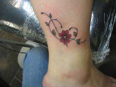 Heart/Daisy Tattoo