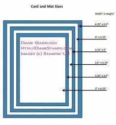 mat size, craft, repin card, card size, size imag, cards, card templatesscor