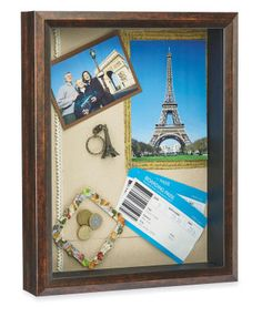 Paris Travel Shadow Box memory picture