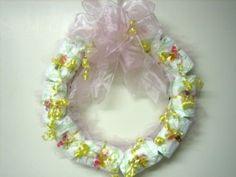 How to Make a Diaper Wreath