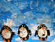 Adaptive Art: Potato print penguins- music students could read Tacky the Penguin, sing the refrain, and make these penguins in art class!