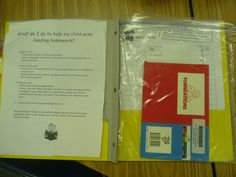 Folder for sending home leveled books as homework- I like the idea of using a ziploc bag in the folder.