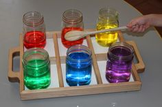 Seedlings Nursery School: Lots of ways to explore colors!