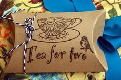Tea bag wedding favors...25 Wedding Tea Favors with Tea Cup Motif. $48.50, via Etsy.   Lynn- Def thiink this would be way easy and a lot cheaper to make ourselves