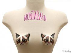 ! Grumpy Cat Nipple Tassles