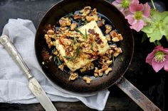 petite kitchen: BAKED FETA WITH WALNUTS, ROSEMARY & HONEY