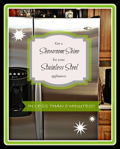 Postcards from the Ridge:  How to get a showroom shine on your stainless steel appliances