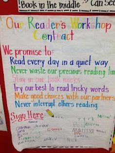 Reader's Workshop Contract
