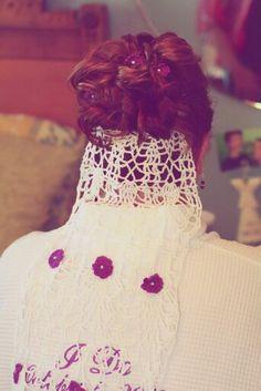 My crocheted veil by mom.
