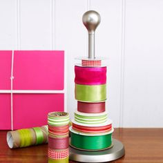Cute way to store ribbons