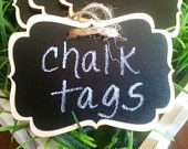 NEW Wood Chalkboard Labels- BRADEN STYLE - set of 4 - Basket Labels, Chalkboard Tags, Wedding Chalkboards, Rustic Wedding