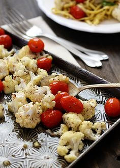 Roasted Cauliflower and Tomatoes