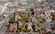 Aerial view of Marshall University, Huntington, WV