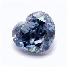 NCDIA (Natural Color Diamond Association) pick of the day. Natural Fancy Deep #Blue #Heart Shape Diamond