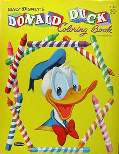 Donald Duck Coloring Book, Whitman 1960