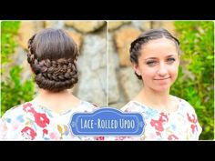 Lace-Rolled Updo...Easy and cute!  #CGH #CuteGirlsHairstyles #Updo #braids #hairstyles #hairstyle #prom #weddinghair