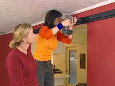 Instructions for how to hang one of those sliding barn doors
