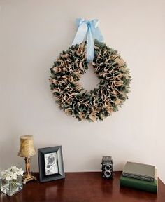 5 Fabric Wreaths from @AllFreeChristmasCrafts