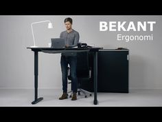 Ikea standing desk goes up &  down with push of a button