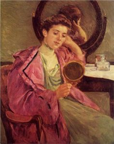 Mary Cassat - Woman at Her Toilette, 1909