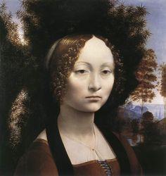 Portrait of Ginevra Benci, 1474 -Leonardo da Vinci