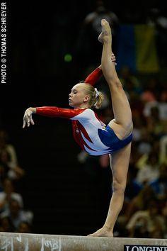 Gymnast Hollie Vise on balance beam, women's gymnastics #KyFun m.5.43 moved from from Gymnastics: The Balance Beam board