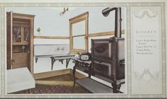 Kitchen color suggestion from 1906 Alabastine color guide.