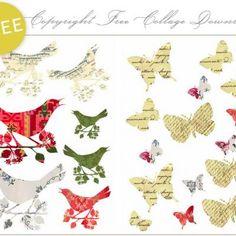 free clip art - birds and butterflies!