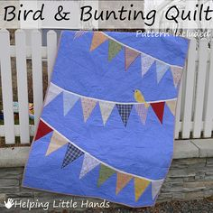 Easy bunting quilt for A.