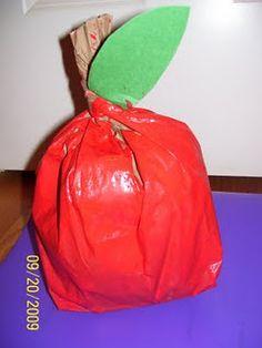 Paper lunch bag apple