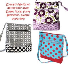 Out and About Zipper Bag, a pdf sewing pattern- free shipping