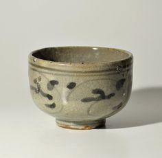 Antique Japanese tea bowl