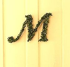 Evergreen #Monogram Wreath // Martha Stewart- #Holidays #MonogrammedWreath #DIY