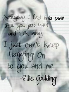 ELLIE GOULDING - HANGING ON LYRICS - SongLyrics.com