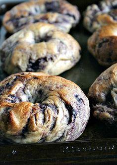 ny style, food, bread, style blueberri, blueberri bagel, blueberries, bagels, new york style, bagel recipe