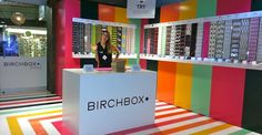Birchbox goes local with colorful pop-up stores. #PopUp #Retail #Branding #LiveColorfully store design, popup store, pop up stores, exhibit design