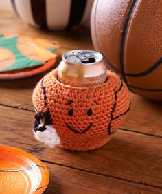 Basketball Can Cozy Free Pattern | Red Heart
