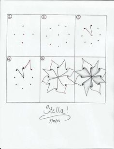 Zentangle pattern - Stella | Flickr - Photo Sharing!