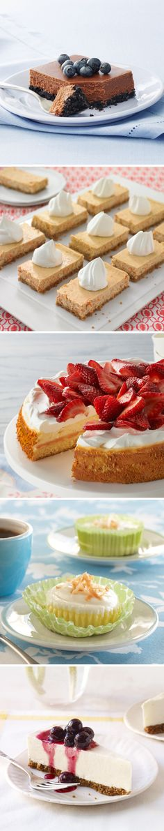 What do strawberry, coconut, and lemon have in common? They are part of our favorite Spring Cheesecake recipe collection! #dessert