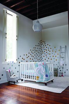modern, playful nursery.