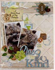 An 8 1/2 x 11 layout by Patter Cross using Blue Fern Studios papers and chipboard.