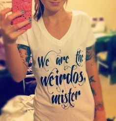 We are the weirdos, mister The Craft white v-neck t-shirt. $24.00, via Etsy.
