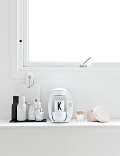 white walls, decorative objects