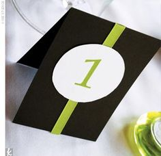 Easy DIY Table numbers