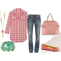 I want this! Such cute spring outfit