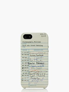 library card resin iphone 5 case - kate spade new york ♥♠