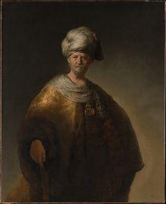 "Man in Oriental Costume (""The Noble Slav"") Rembrandt (Rembrandt van Rijn)  (Dutch, Leiden 1606–1669 Amsterdam) Date: 1632 Medium: Oil on canvas"