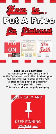 Pinterest Tip Pins With Prices