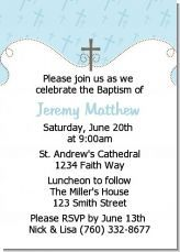 You can customize this invitation for either a christening or for a baptism to announce this special occasion for your little boy!