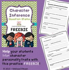 Help your students infer character personality traits with this practice FREEBIE! #wildaboutfifthgrade